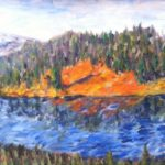 Ben's Mountain Lake  ~  Mardi & Ken Terrill, Blue Lake, CA 2014  •  24 x 8