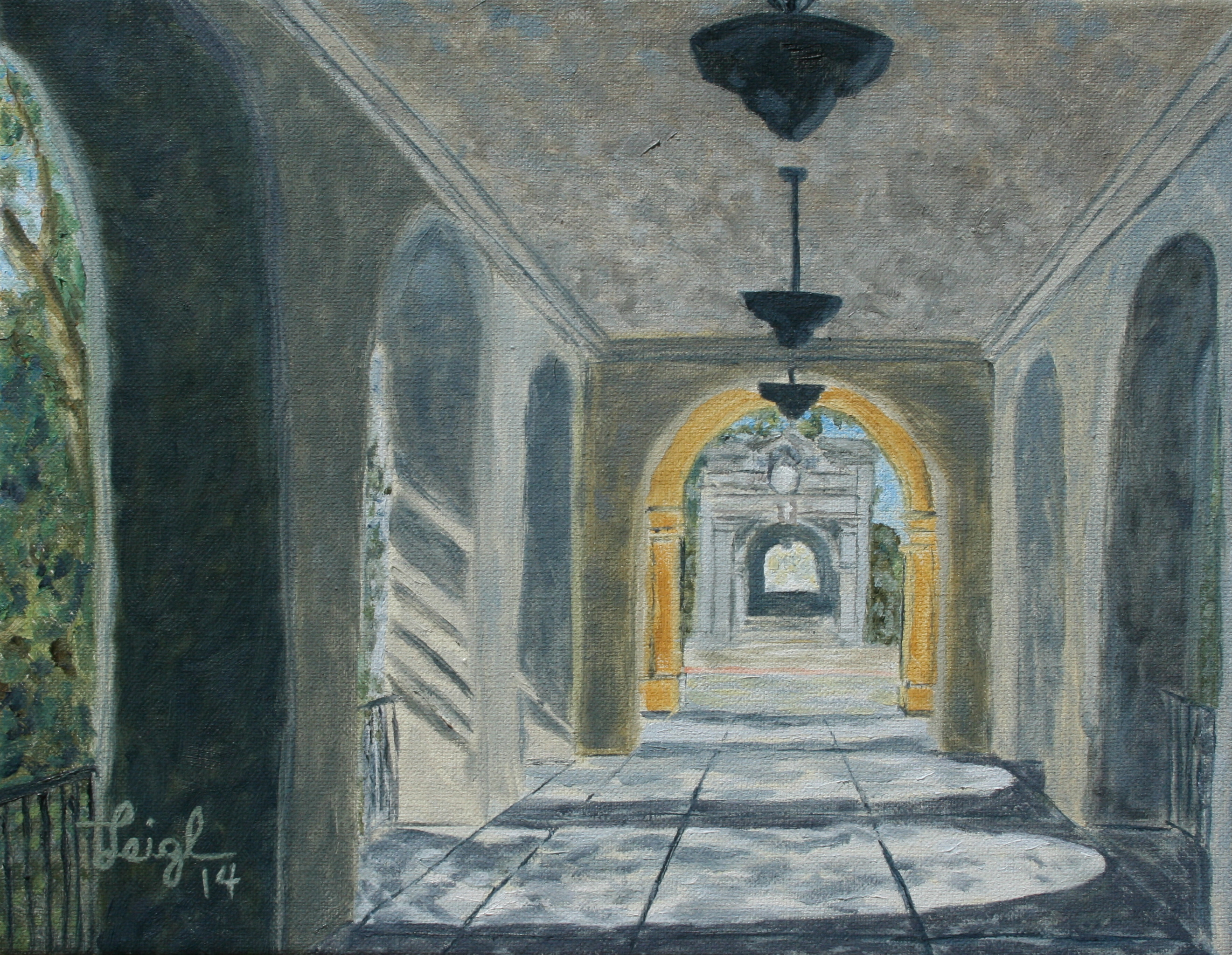 Casa del Prado Hallway  ~   2014  •  14 x 11