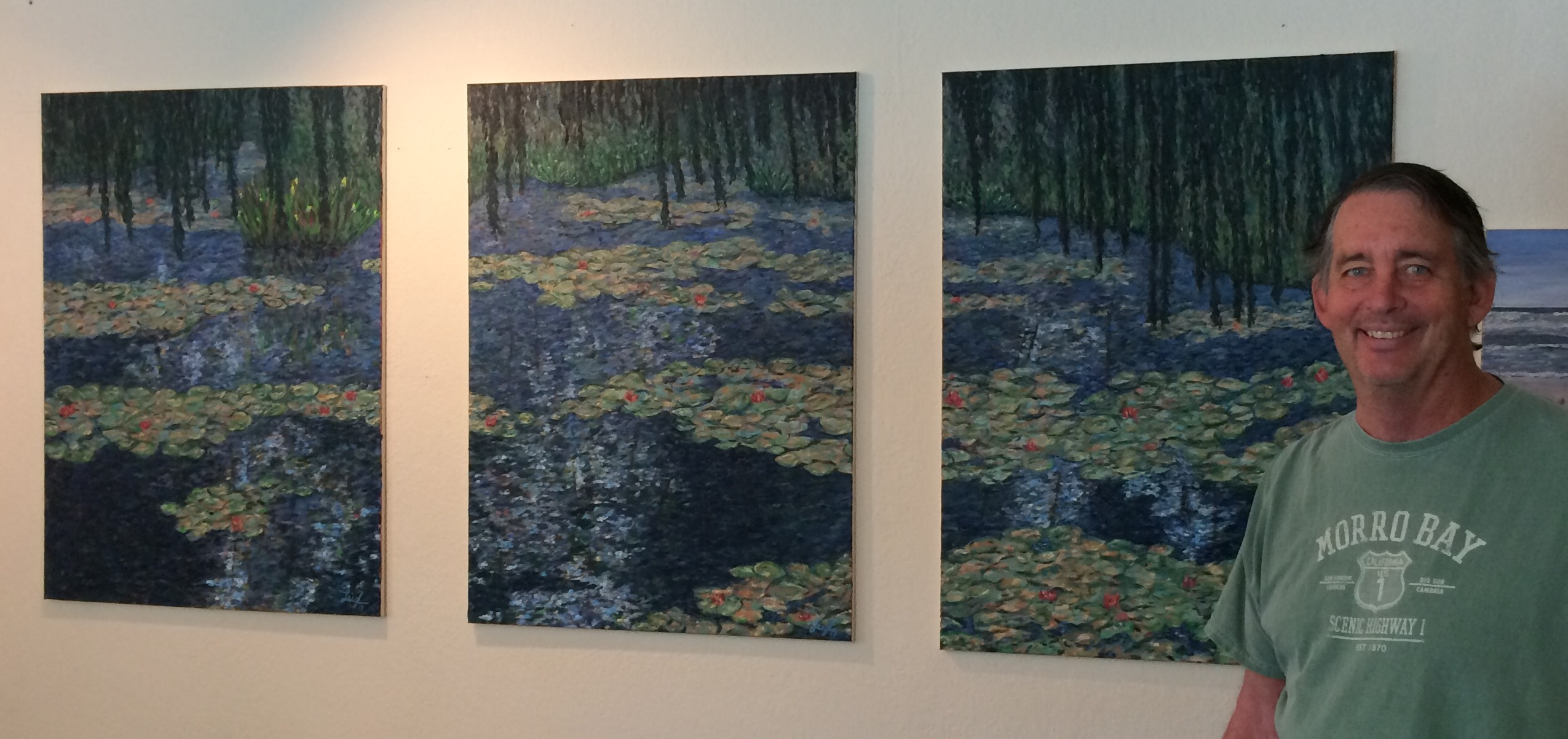 Leigh with triptych, March 2017