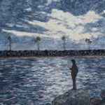 Fishing at Dusk  ~   Mikey Contardi, Vista, CA 2016  •  16 x 20