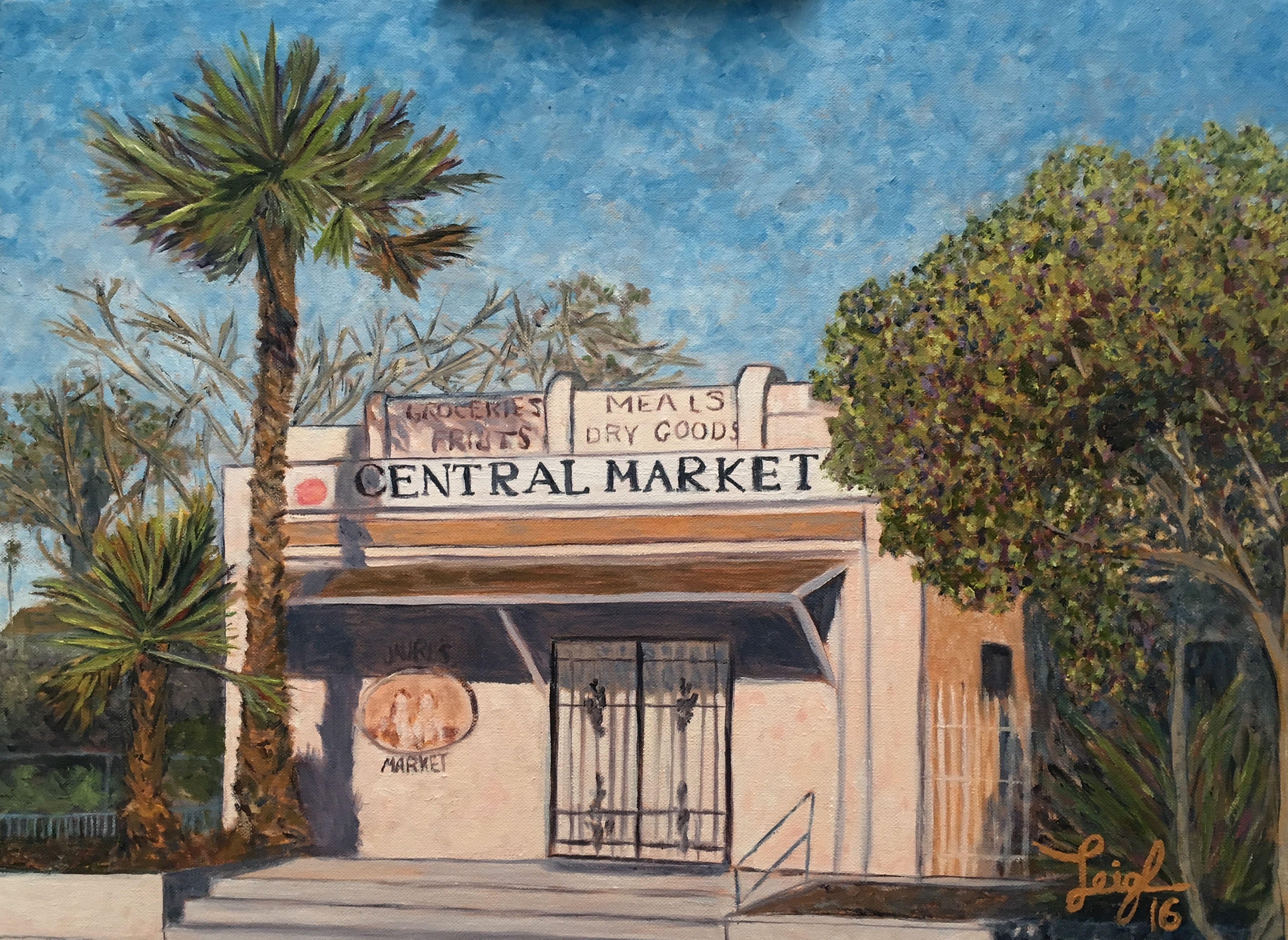 Central Market  ~   Leo Pacheco, Carlsbad, CA 2016  •  20  x 16