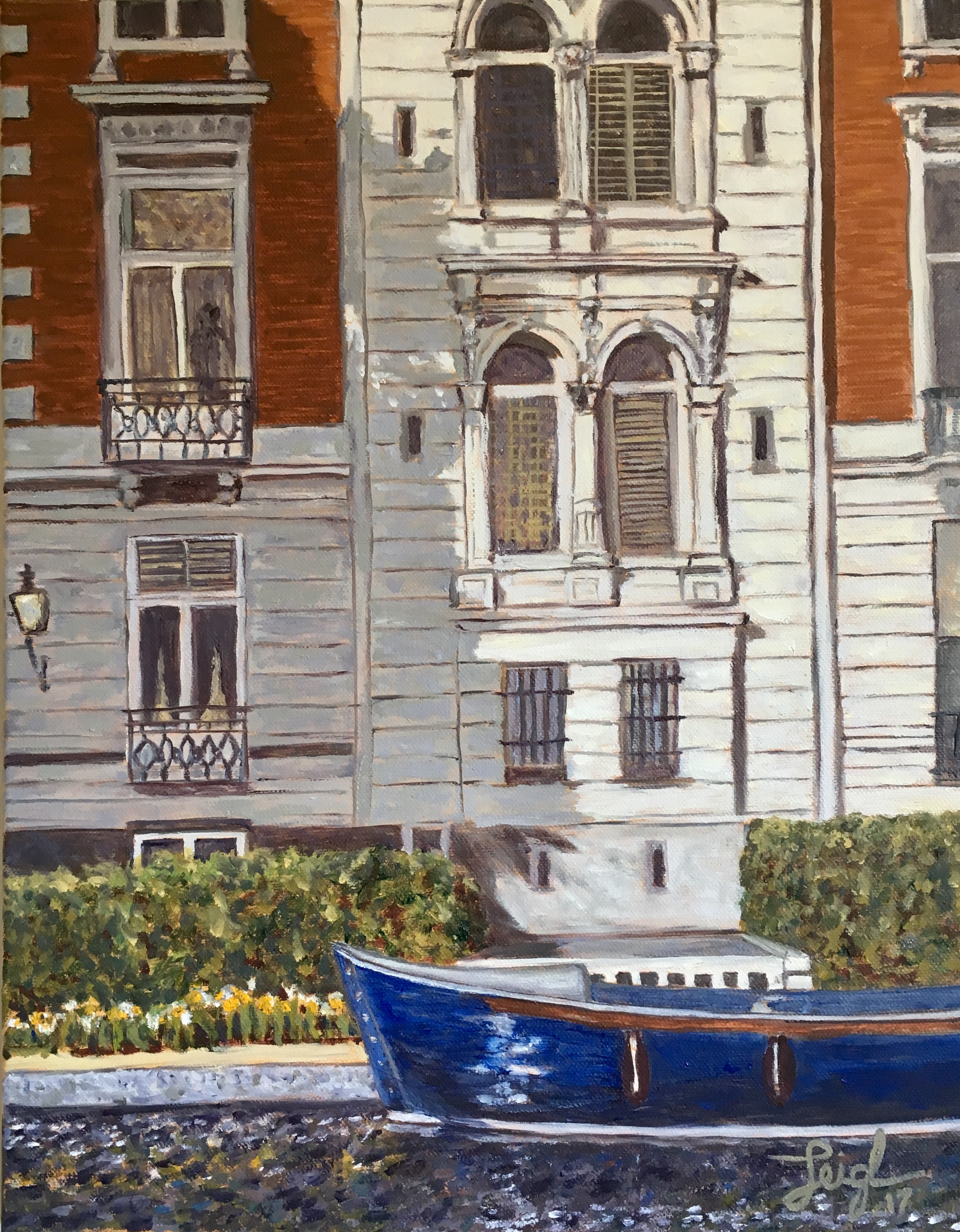 Amsterdam Blue Boat  ~  Sage Schaan, San Francisco, CA 2017  •  14 x 18