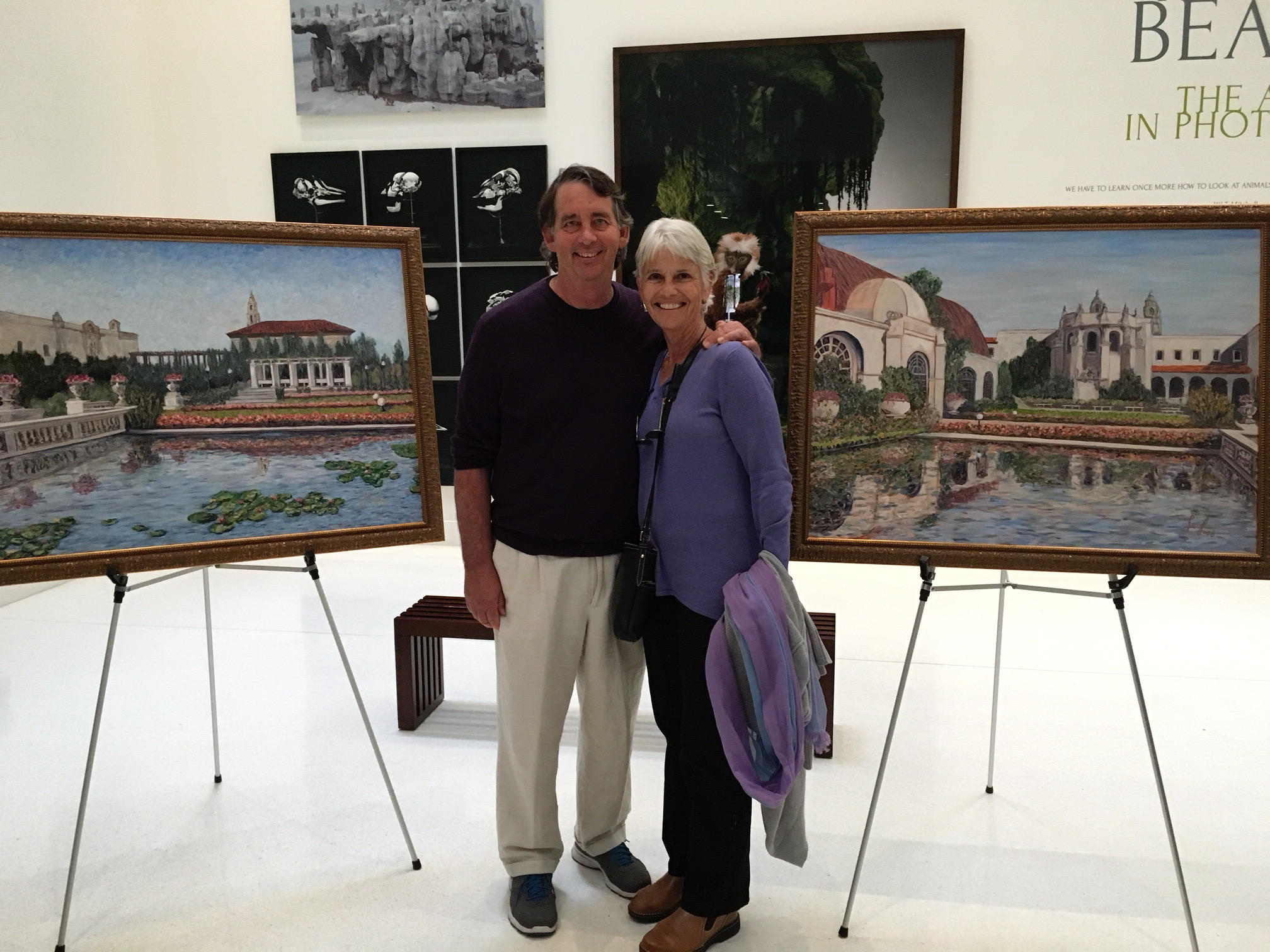 Leigh & Lindsey at reception, San Diego Museum of Photographic Arts