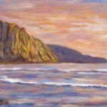Morro Bay Golden Sky  ~   2012  •  24 x 8