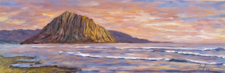 Morro Bay Golden Sky  ~   2012  •  24 x 8