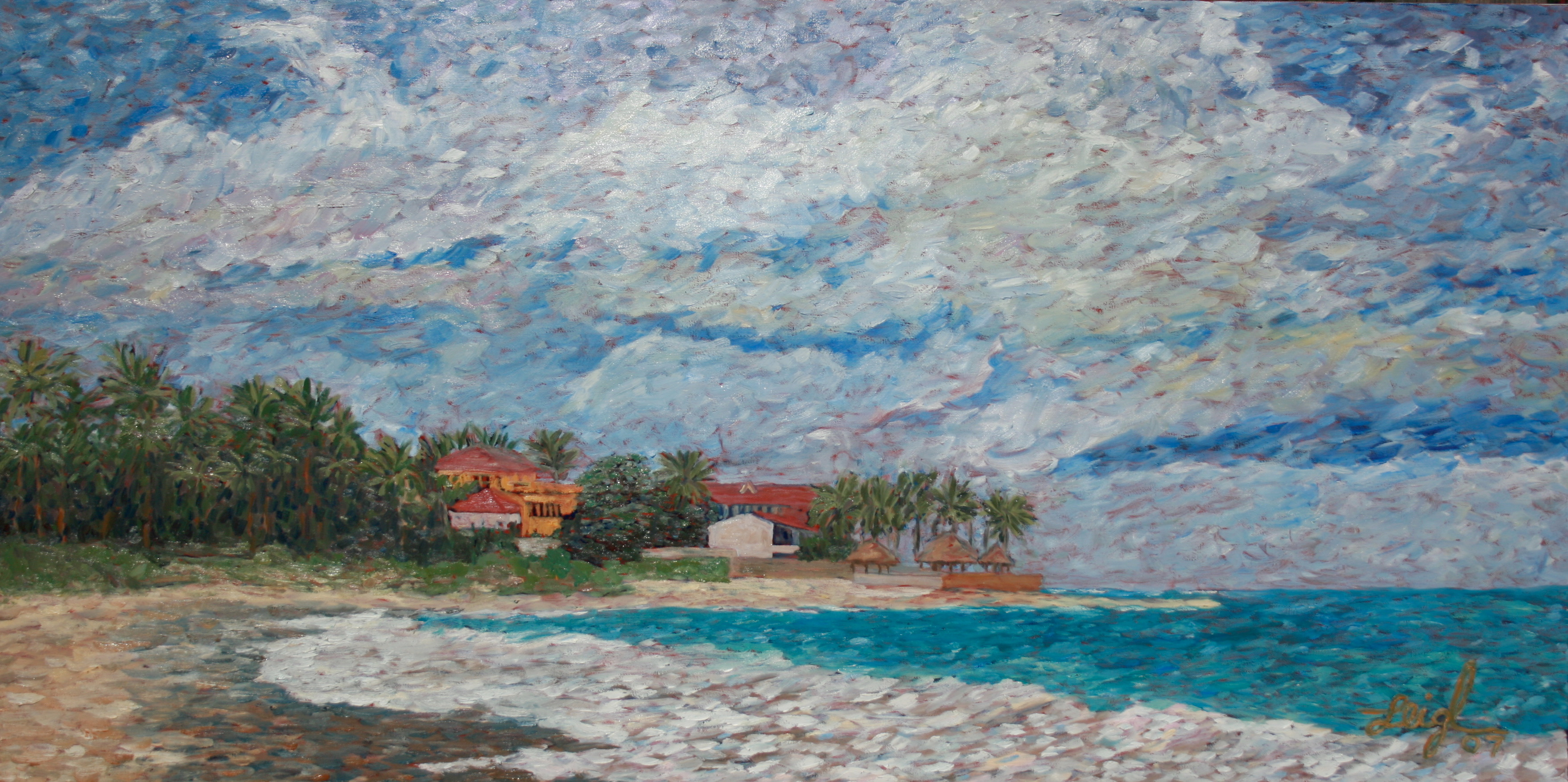 Cabarete Beach  ~  Laurel Eastman, Dominican Republic 2007  24x48