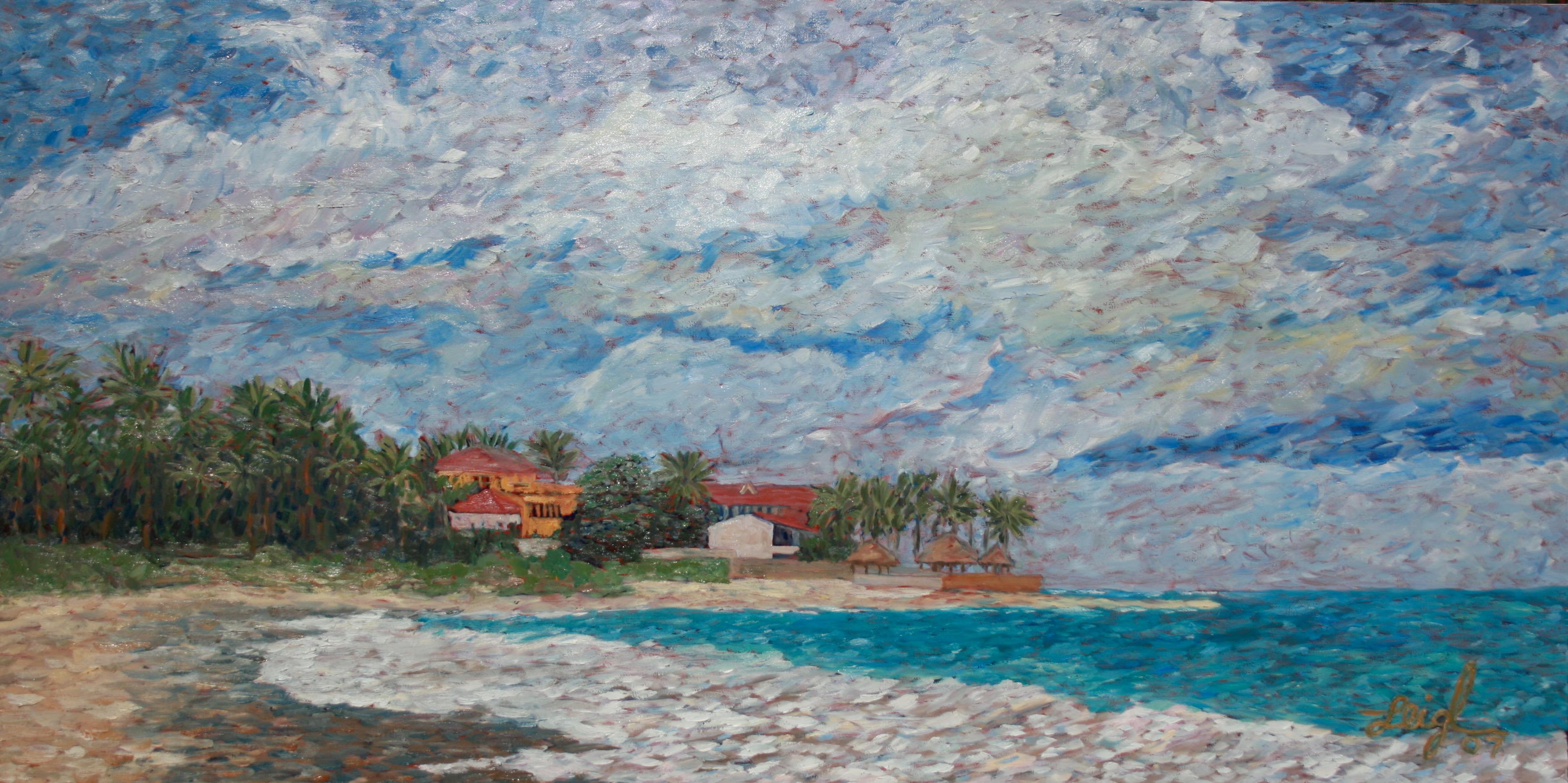 Cabarete Beach  ~  Laurel Eastman, Dominican Republic 2007  24x48