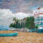 Cabarete Beach, facing East  ~   Art & Beatriz Jacobson,  Solana Beach, CA 2007  •   20 x 16