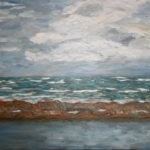 Cabarete Beach Breakwater  ~   Johanna Marie McShane, Lafayette, CA 2007  •  20 x 16