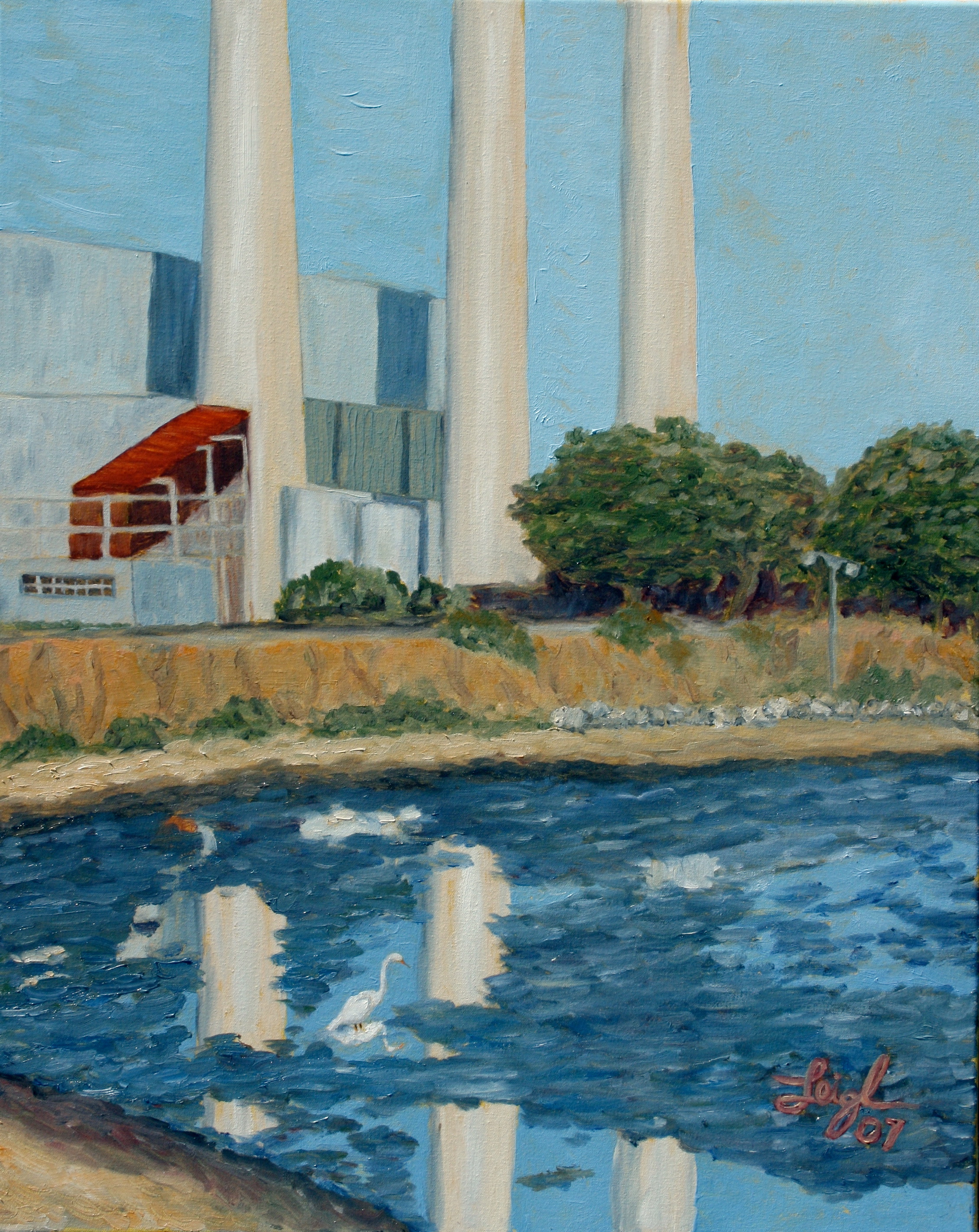 Morro Bay Power Plant  ~   Neil Cohn, Boston, MA 2007  •  24 x 30