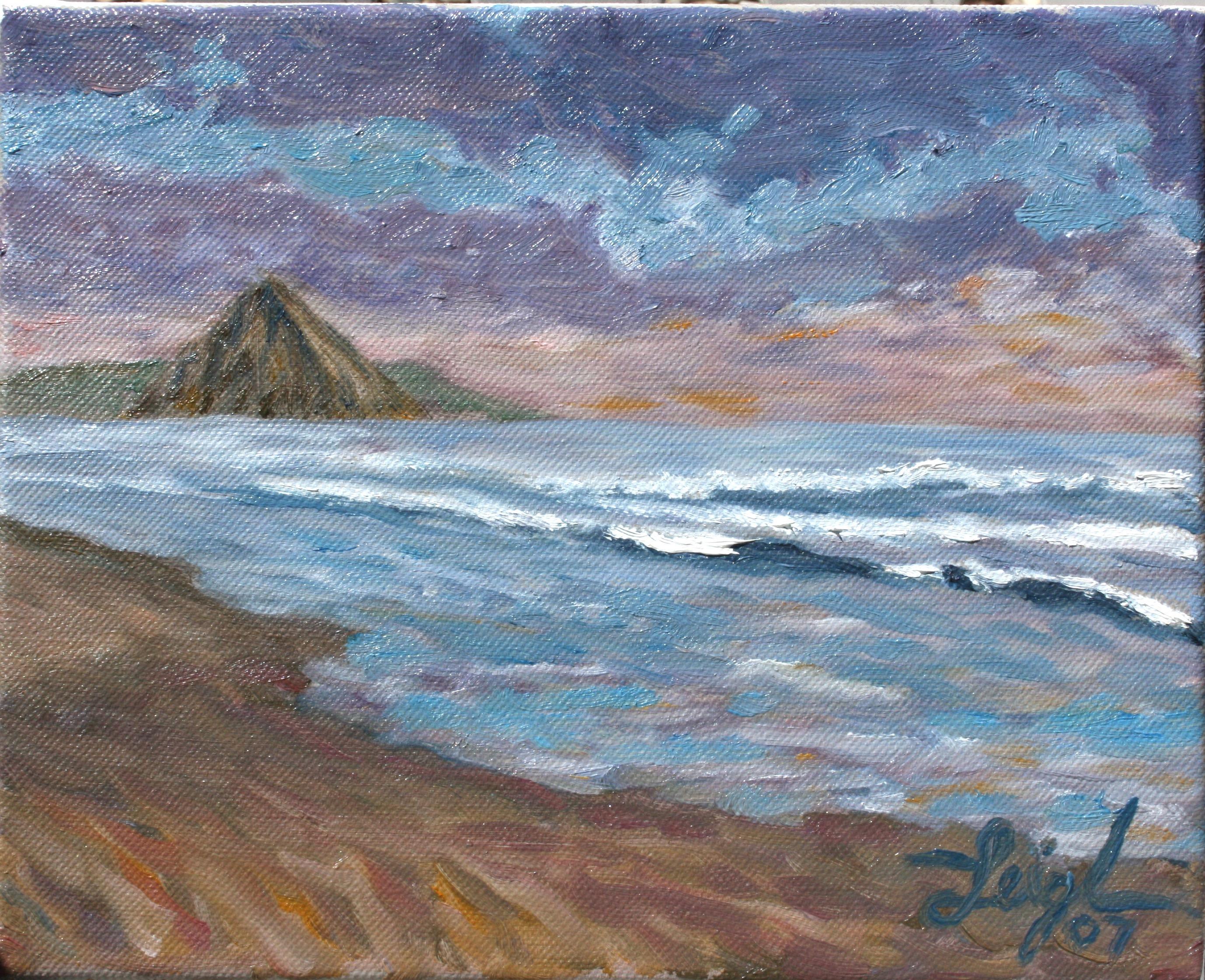 Sunset sketch  ~   Kathy Loh, Santa Cruz, CA 2007  •  10 x 8