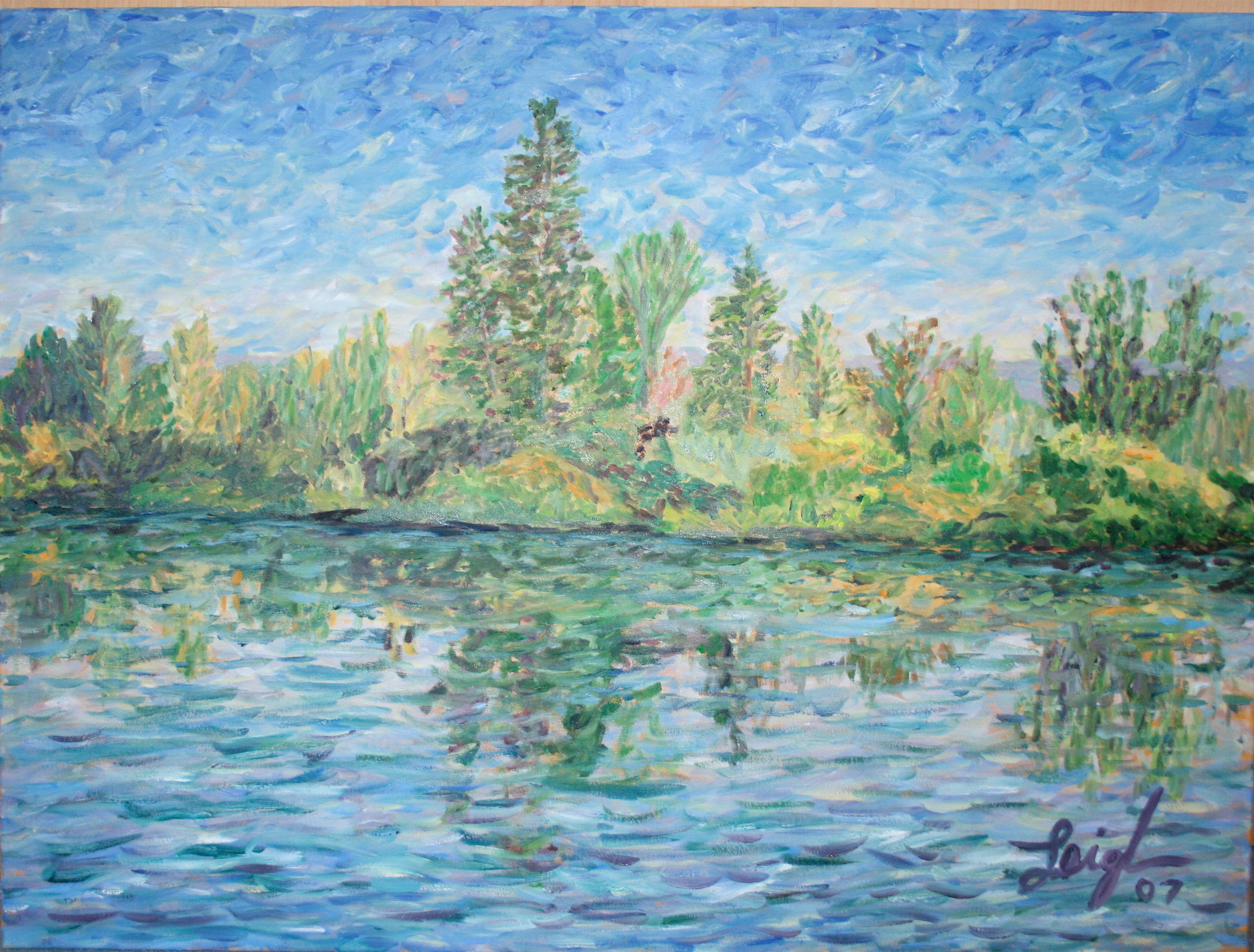 Swan River #2  ~   Laura Hill, Worthington, OH 2007  •  40 x 30