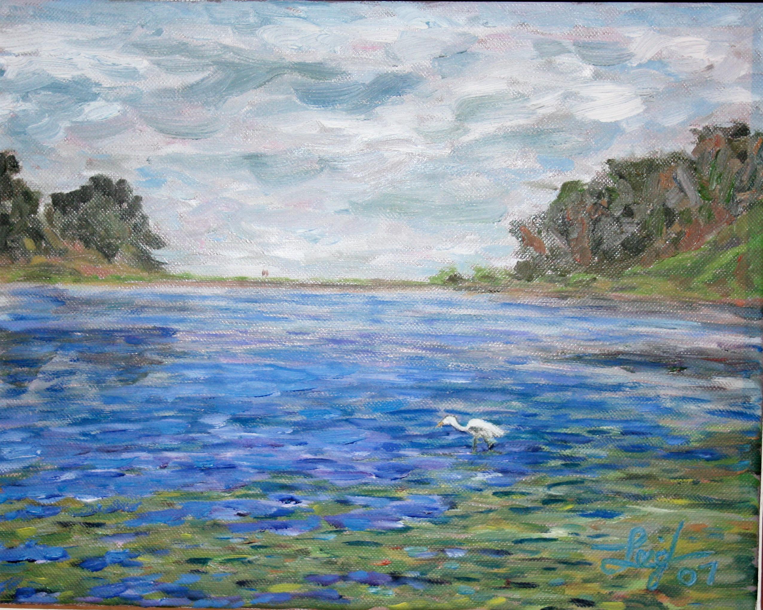UCSB Lagoon #2  ~   Ameila Eastman & Brian Pickett, Houston, TX 2007  •  14 x 11
