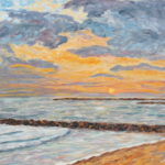 Oceanside Jetties  ~   source photo by Abacus Graphics, 16x20, 2008 2008  16x20