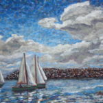 Boaters on a Spring Day    ~  Private collection, Oceanside, CA 2008 • 20 x 16