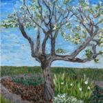 Plum Tree in Bloom   ~   Bobbe Greenspan Moore, Hermosa Beach, CA 2008  •  11 x1 4