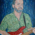 Ken Playing Guitar  ~   Ken Sprinkle, Oceanside, CA 2008  •  18 x 24