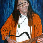 Buffalo John Playing Guitar  ~   John Webster, Bigfork, MT 2008  •  18 x 24