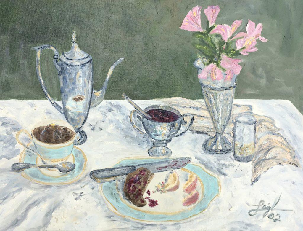 Afternoon Tea  ~   2002  •  24 x 18