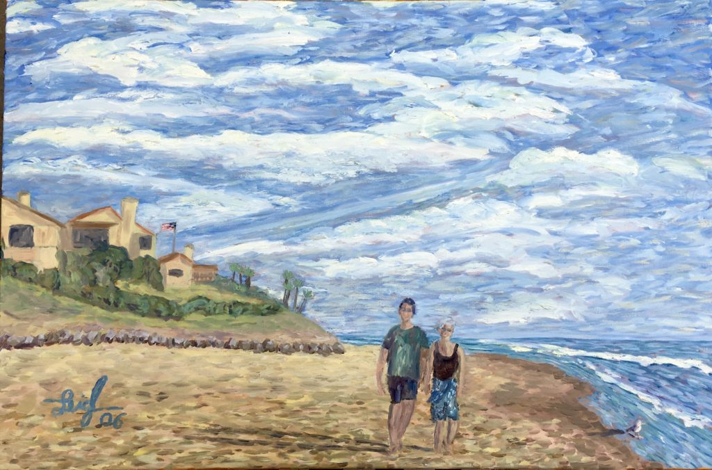 Leigh & Lindsey on Carlsbad Beach  ~   2006  •  36 x 24