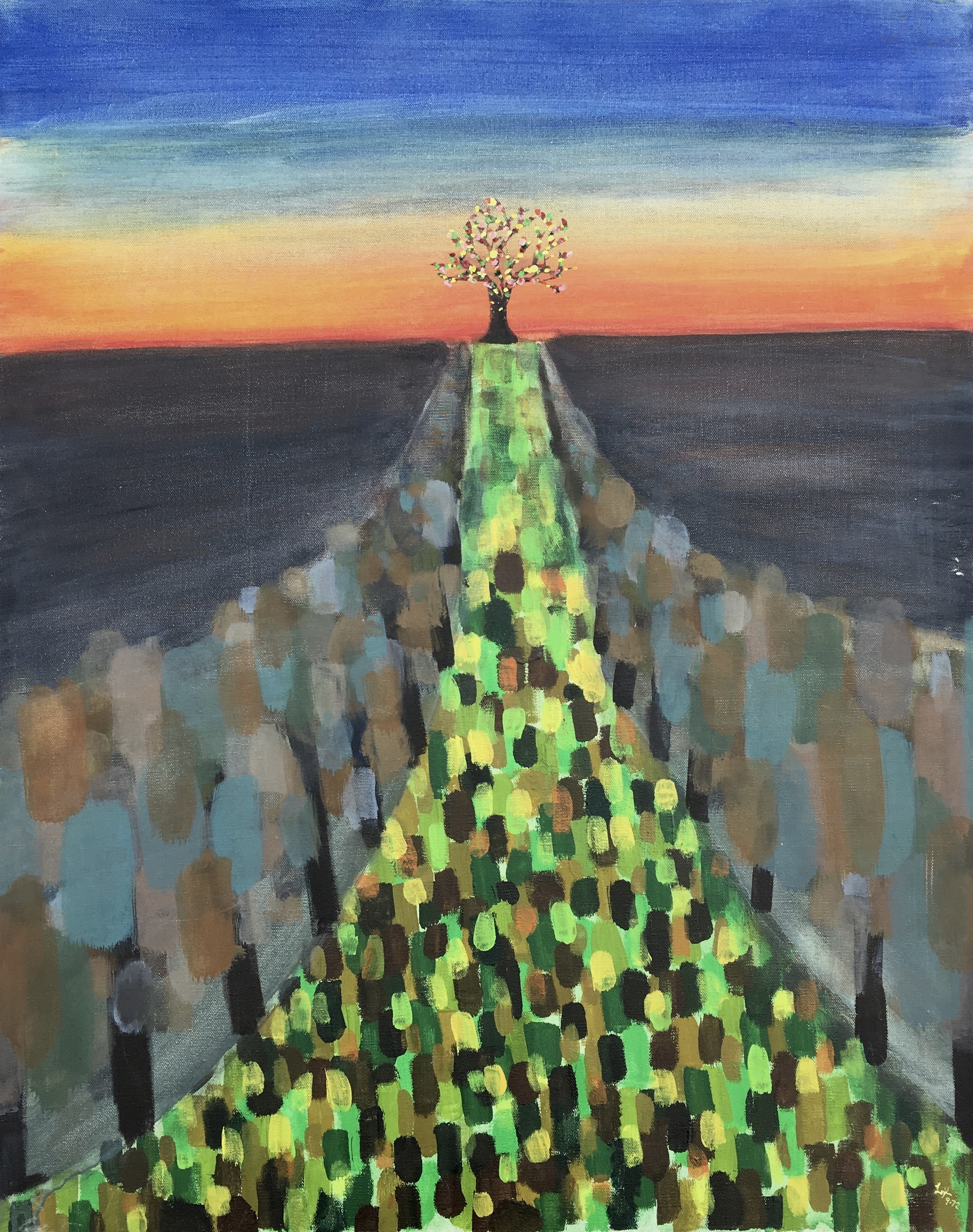 The Tree of Enlightenment  ~   1972  •  24 x 30