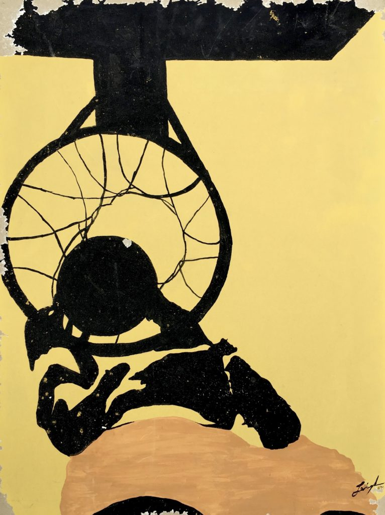 MVJ Slams  ~   Poster paint on cardboard 1970  •  18 x 24
