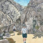 Leigh and Lindsey at Borrego Springs  ~   1997  •  16 x 20