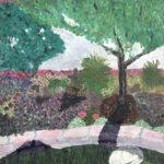 Whitey and Buddha Under the Apple Tree  ~   1996  •  16 x 20