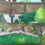 Lindsey's in the Garden  ~   1996  •  20 x 16