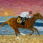 Go Between Wins the Pacific Classic  ~   Del Mar 2008  18x24