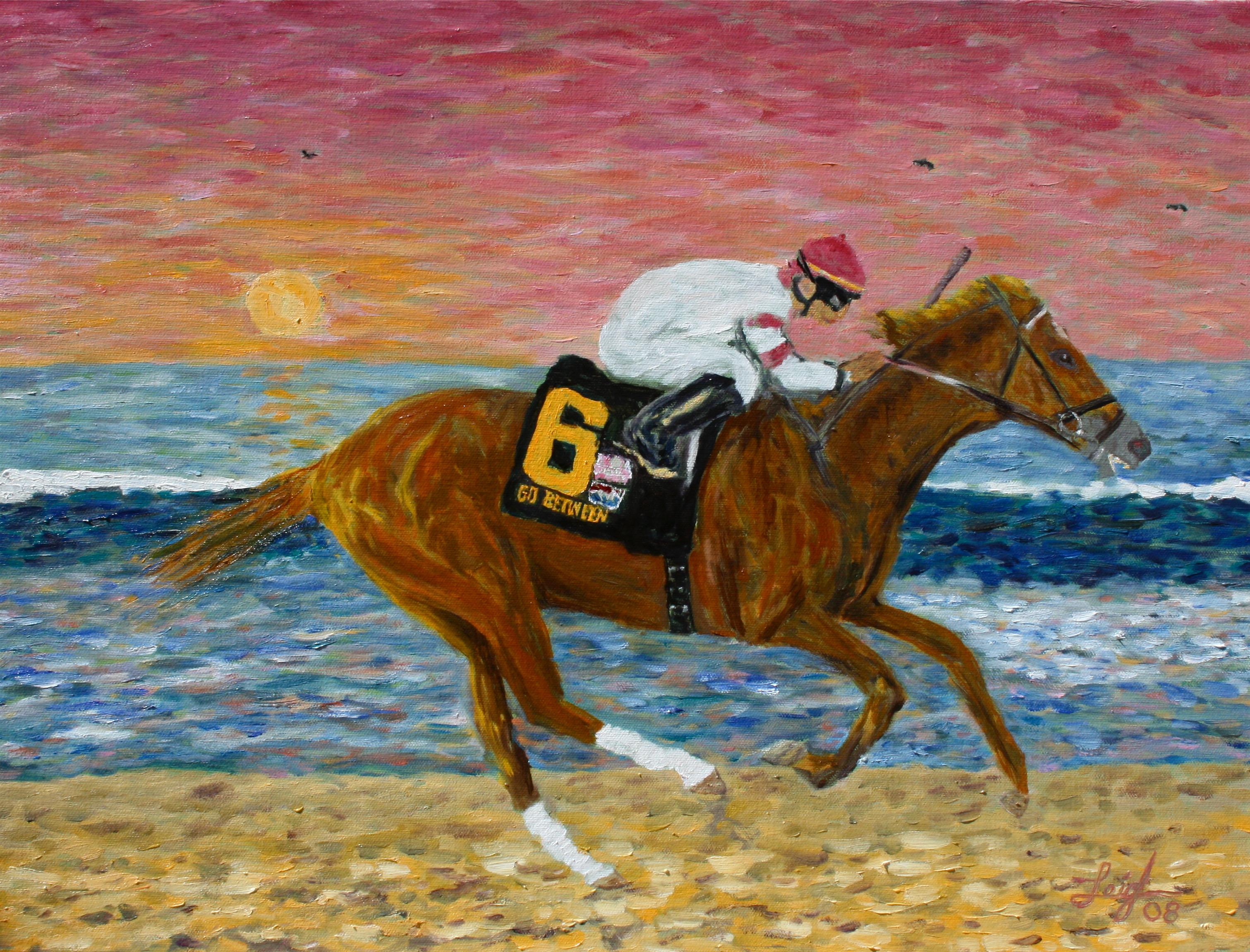 Go Between Wins the Pacific Classic  ~   Del Mar 2008  18x24