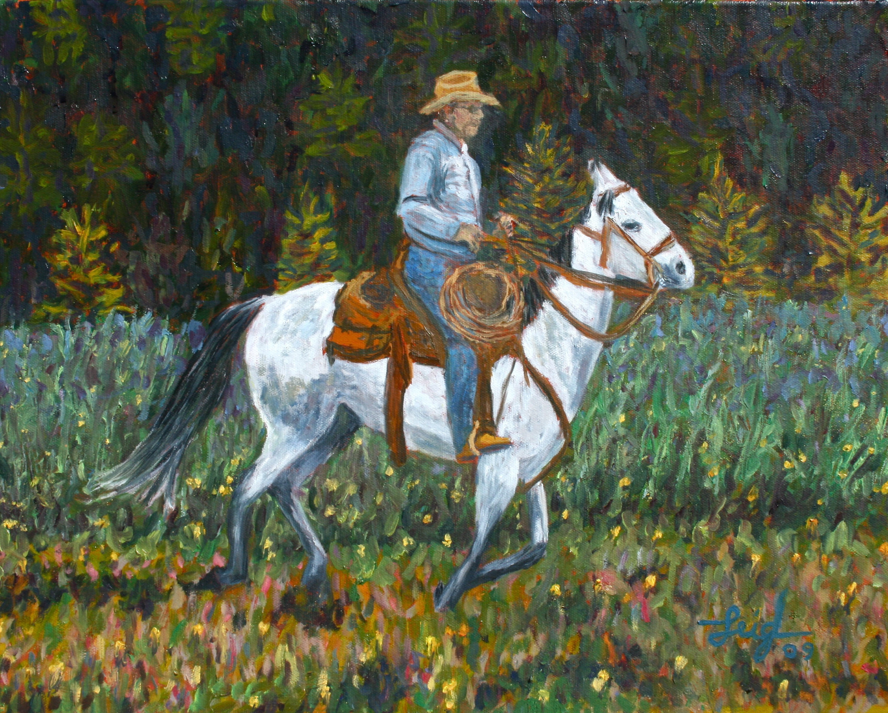 Greg in the Bob  ~   Private collection, Choteau, MT 2009  •  20 x 16