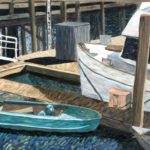 Dinghy at the Dock  ~   Cate Baker-Pitts, New York, NY 2009 • 30 x 24