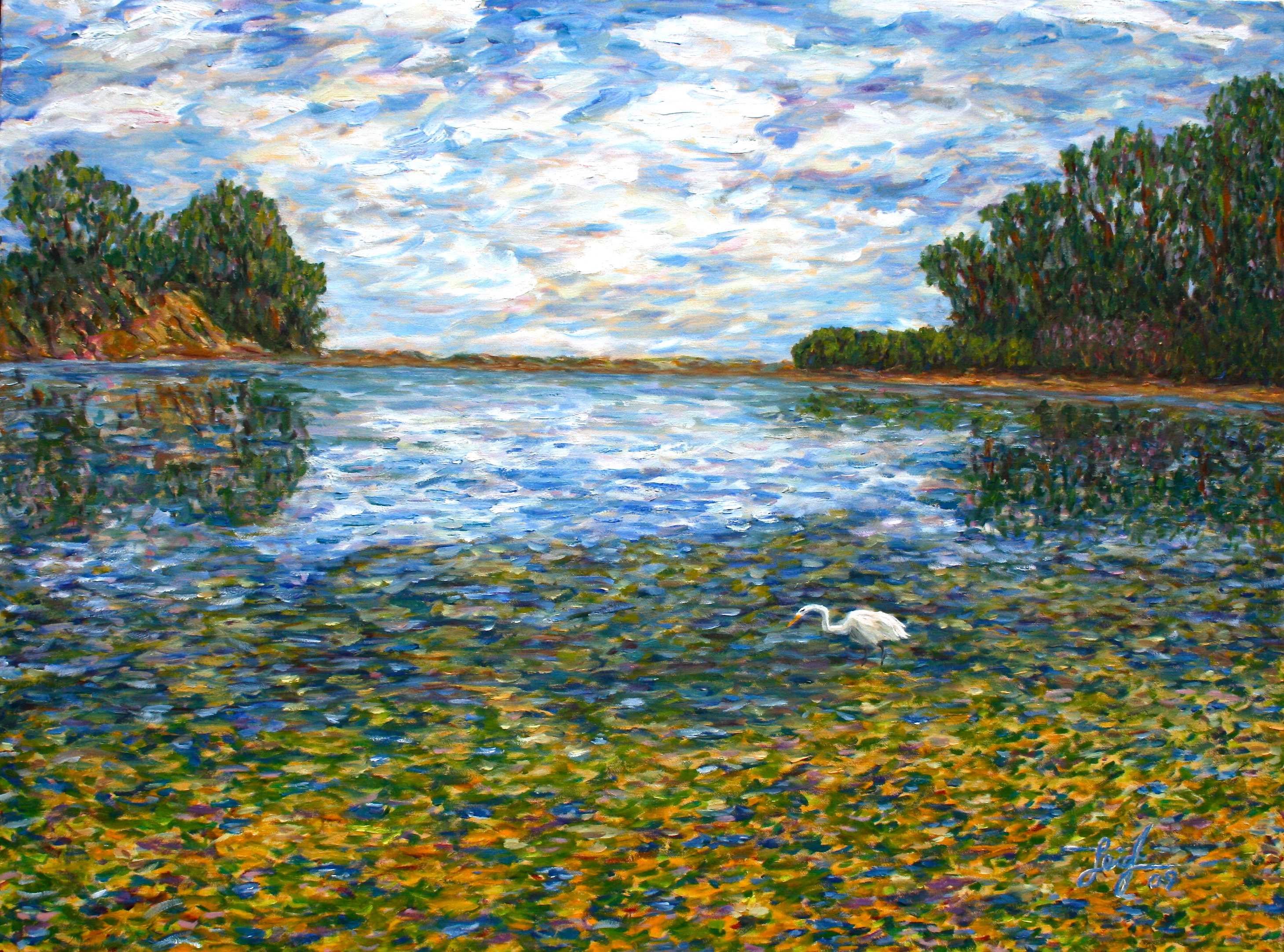UCSB Lagoon on Charlie's Graduation Day  ~   Charlie Cohn, San Francisco  2009  •  30x40