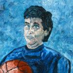 Self Portrait as the Patron Saint of Basketball  ~   1997  •  16 x 20