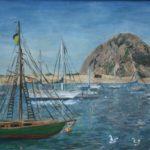 Moored Boats  ~   Charlie Cohn, San Francisco, CA 2001  •  24 x 18