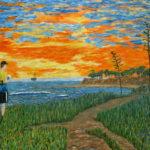 Black Tide  ~   Charlie Cohn, Santa Barbara, CA 2005  •  48 x 36
