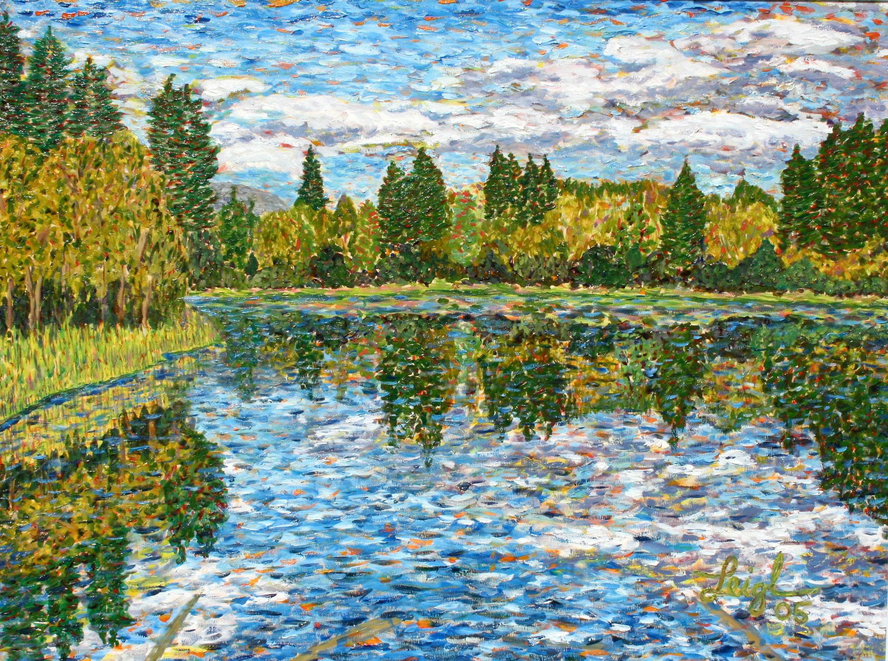 Swan River  ~   Michael & Jordonna Dores,   Bigfork, MT 2005 • 40 x 30