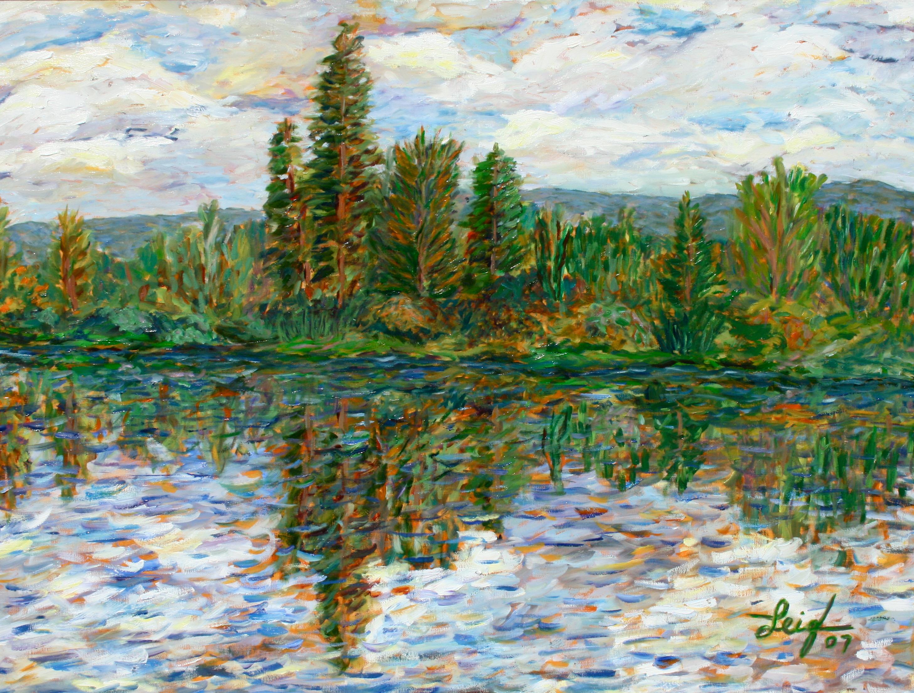 Heart Tree on Swan River  ~   Michael & Jordonna Dores,  Bigfork, MT 2007  •  40 x 30
