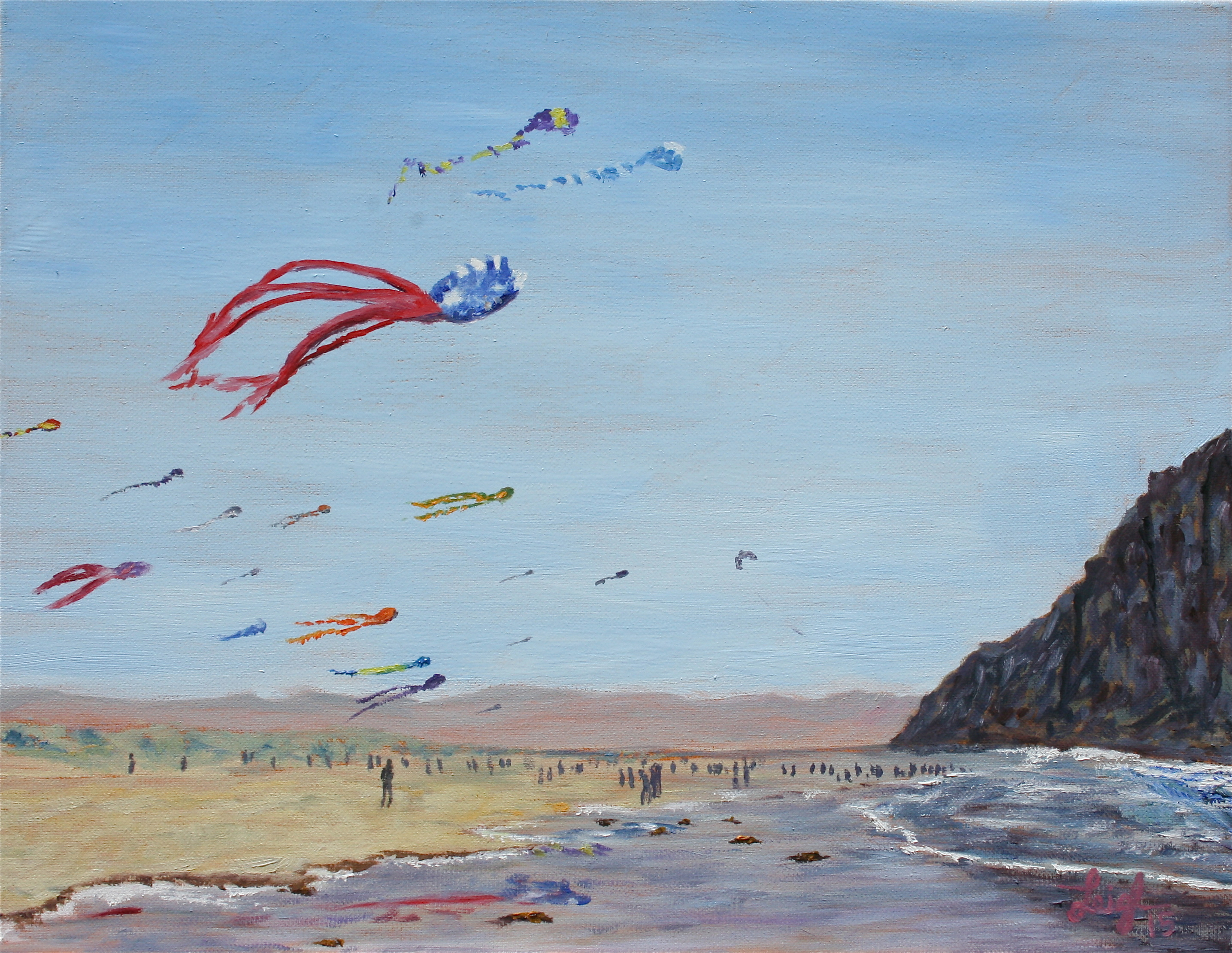 Kite Festival in Morro Bay  ~   Anne Edwards, La Verne, CA  2015  •  18 x 14