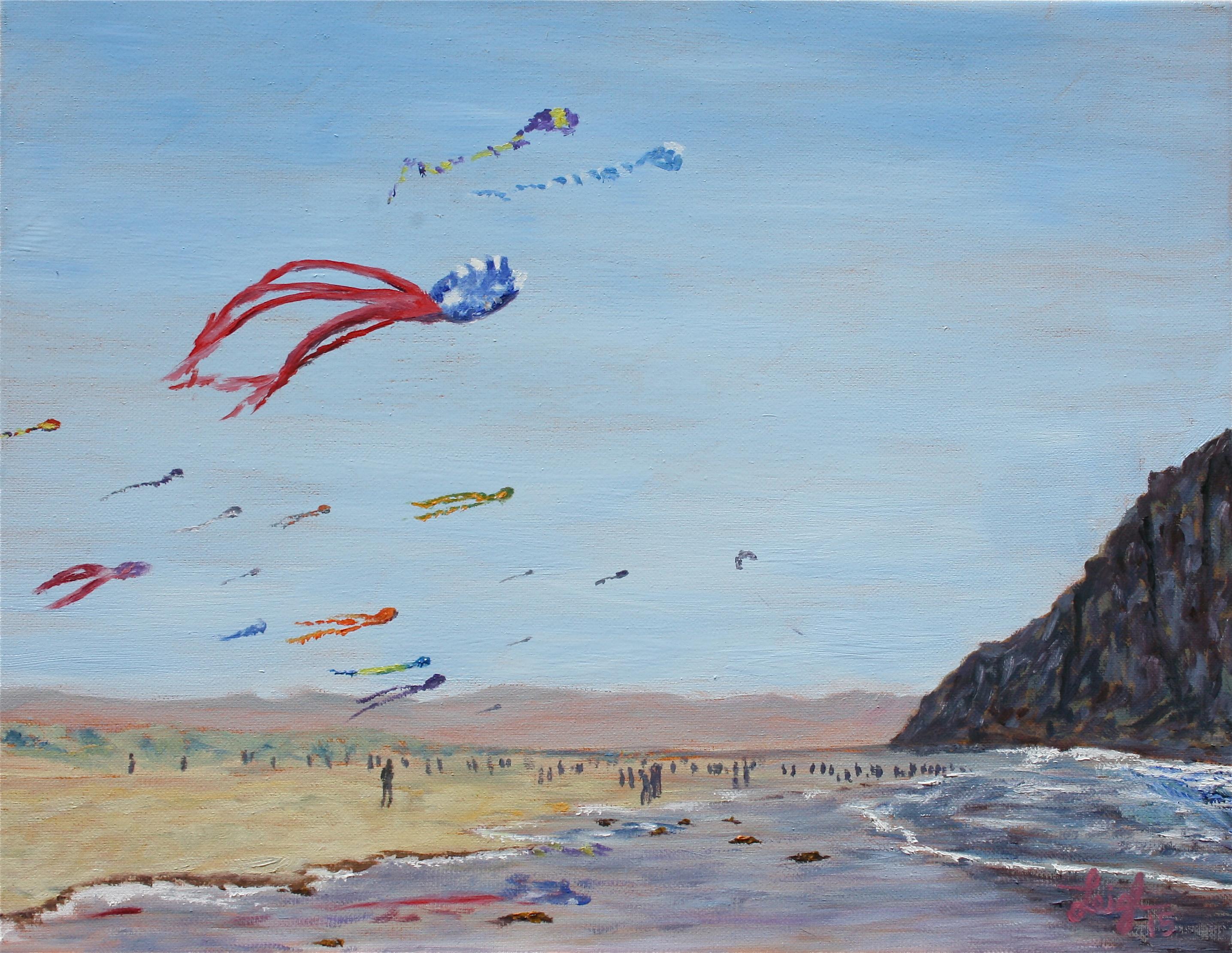 Kite Festival in Morro Bay  ~   Anne Edwards, La Verne, CA  2015  •  18 x 14