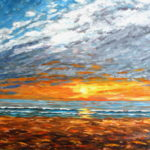 Carlsbad Sunset  ~   Private Collection, Escondido CA 2010 • 24 x 18