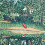 Red Canoe in Maine  ~   Auction for PAVE, Tacoma, WA  2010  •  30 x 24