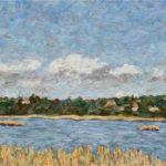 Buena Vista Lagoon  ~   Michael Levine and Mary Suydam, Goleta, CA  2015  •  24 x 8