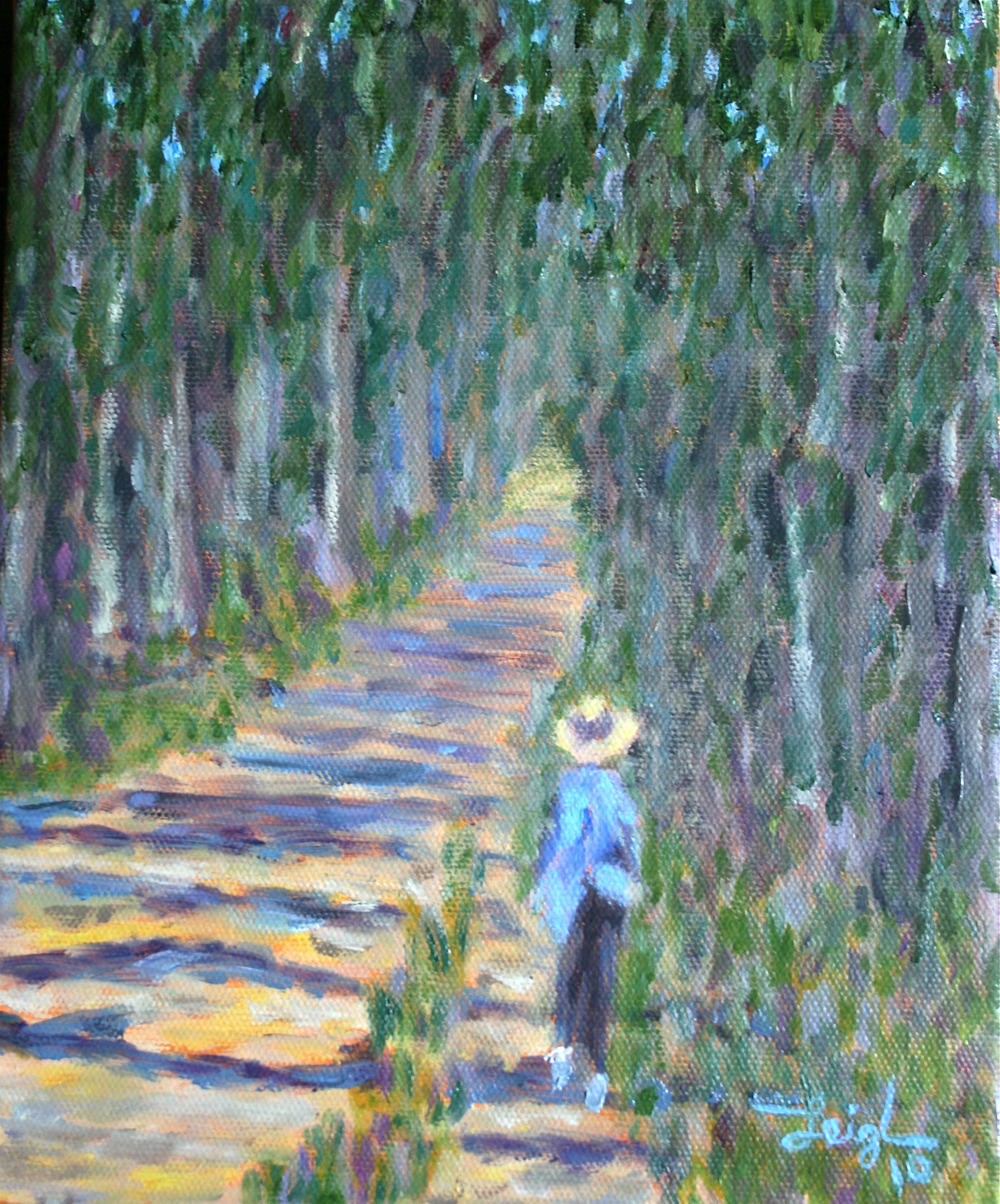 Lindsey on the Path  ~   Stacie McEntyre, Durham, NC  2010 • 8 x 10