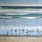 Birds on Beach Tryptic  ~   Neil Cohn, Tilburg, The Netherlands 2016  •  108 x 48