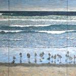 Birds on Beach Triptych  ~   Neil Cohn, Tilburg, The Netherlands 2016  •  108 x 48