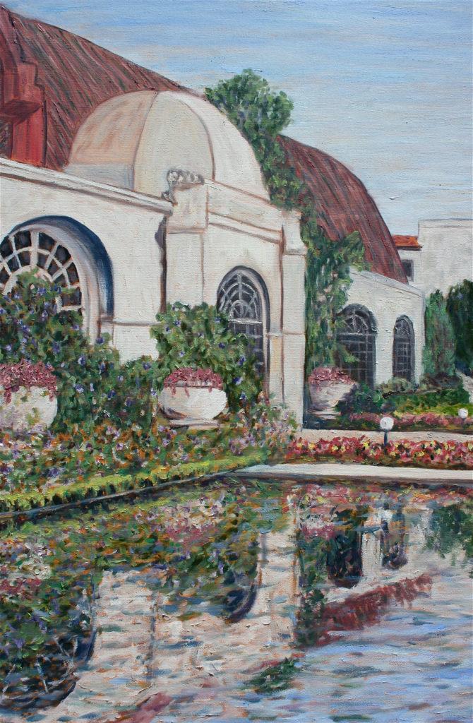 Botanical Reflection 1916 detail