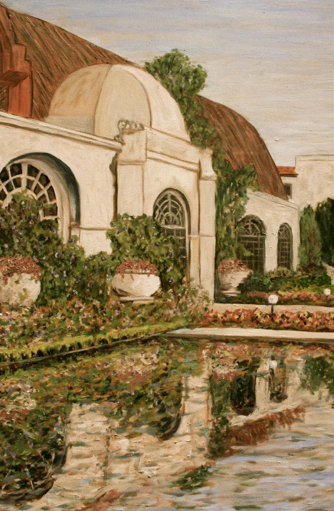 Botanical Reflection detail (sepia)