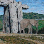 Elephant in Escondido  ~   Mindy & Paul Jacobson-Levy, Elkins Park, PA  2015 • 14 x 11